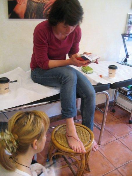 Sandra creating tattoo 5