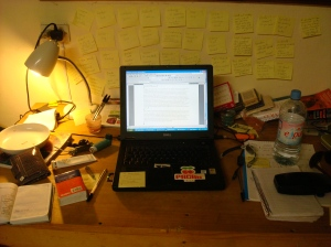 A portrait of the artist's desk